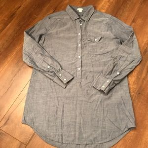 J. Crew Chambray Long Sleeve Shirt size small.