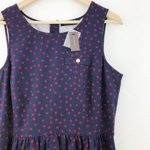 The Limited Polka Dot Fit & Flare Dress, NWT