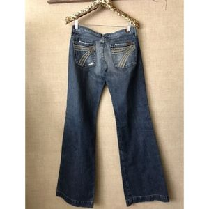 7 For All Mankind Dojo Jeans Size 30 100% Cotton
