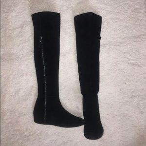 STUART WEITZMAN Over the Knee Suede Boots