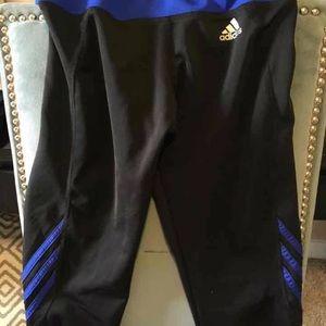 2 pairs Adidas capris