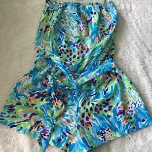Lilly Pulitzer strapless romper