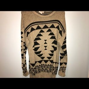 Tan and black long sweater! BRAND NEW