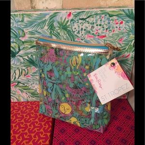 NWT LILLY PULITZER Cosmetic Bag St Tropez Kini in