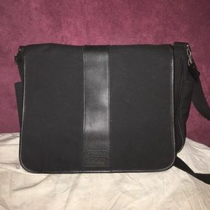 Coach laptop messenger bag