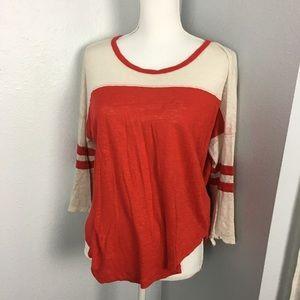Madewell Linen Baseball Varsity T Shirt