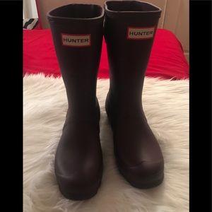 Women Hunter Short Back Adjustable Rain Boots