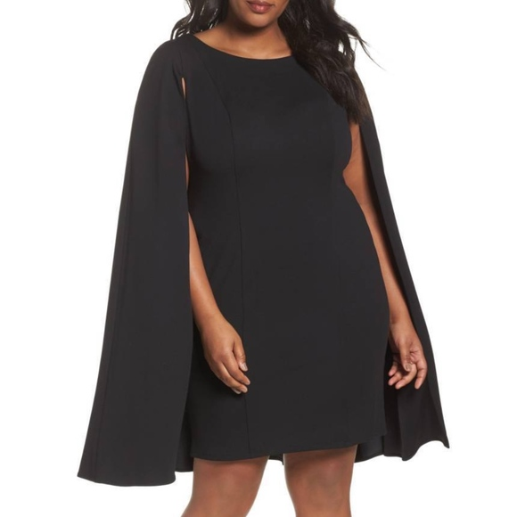 785f82d0 Adrianna Papell Dresses   Structured Cape Crepe Sheath Dress   Poshmark