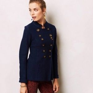 Gro Abrahamsson anthropologie boiled wool jacket