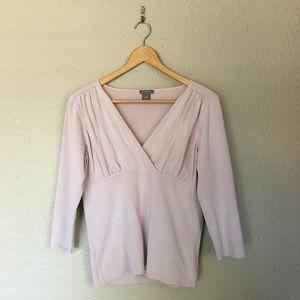 Blush Ann Taylor Sweater Blouse
