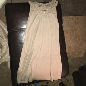 BCBG Maxaroa beige knit dress size small