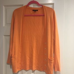 Banana republic medium orange sweater cardigan