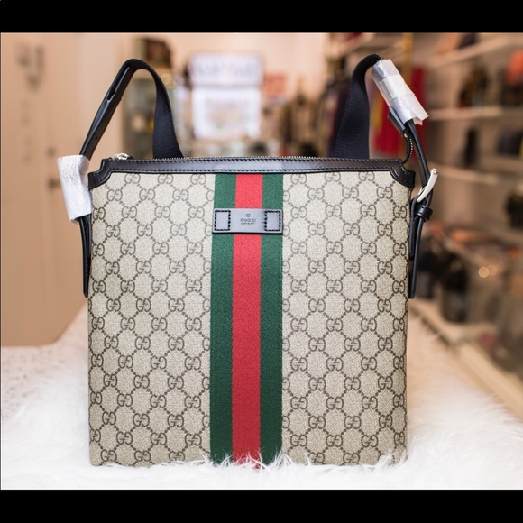 Gucci Handbags - Gucci Web GG Supreme Messenger Bag 994fd5ef64cf1