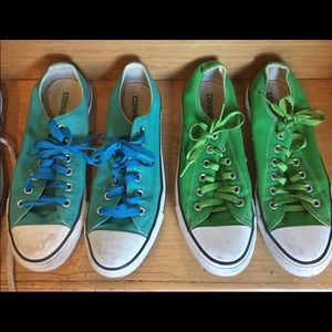 Dope green and blue chucks