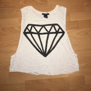 diamond graphic muscle tank
