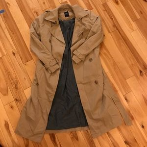 Tan colored trench
