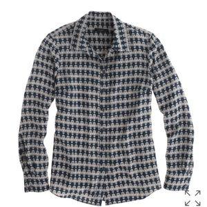 J. Crew size 2 Silk boy blouse in owl print