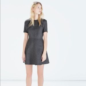 Zara grey seamed dress