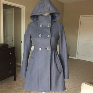 H&M Wool Double Breasted Hooded Pea Coat