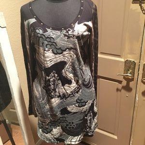 Custo Chic Barcelona size 3 Cute shirt Dress