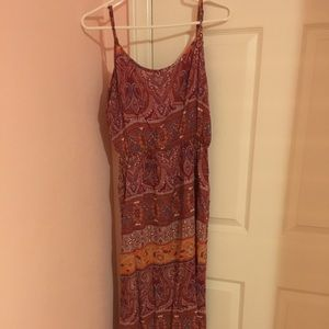 FOREVER 21 - Pink printed maxi dress
