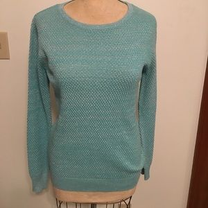 Forever 21 sparkle knit sweater in aqua sz small