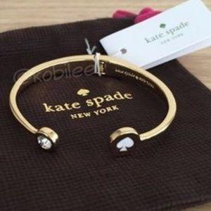 Kate Spade Spot the Spade Open Hinge Bracelet NWT
