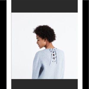 Madewell tie back sweater