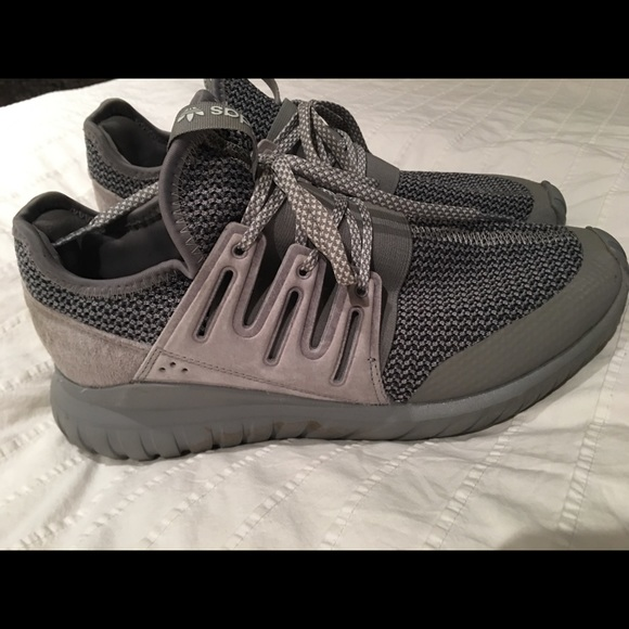 classic styles reasonable price hot products Adidas tubular radials in gray