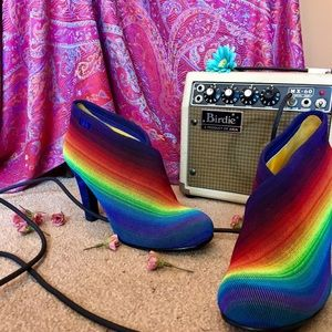 United nude rainbow booties