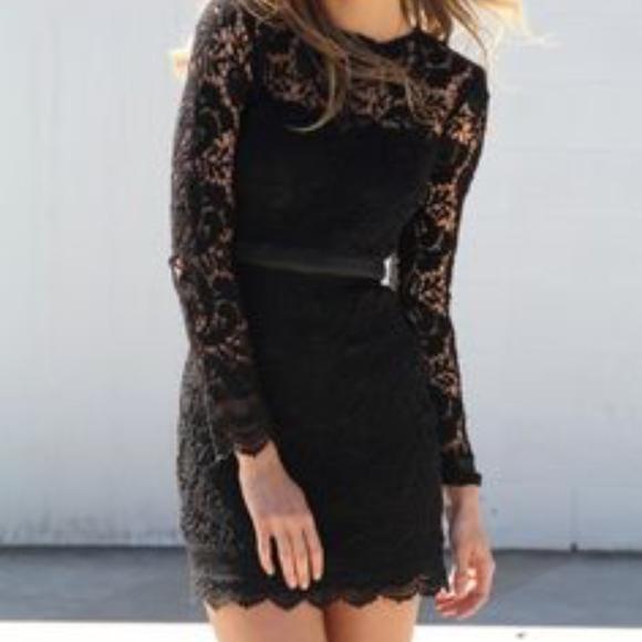 941b6f2a13b8 Sabo Skirt Dresses   Long Sleeve Lace Mini Dress   Poshmark