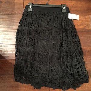 Black Embroidery Skirt