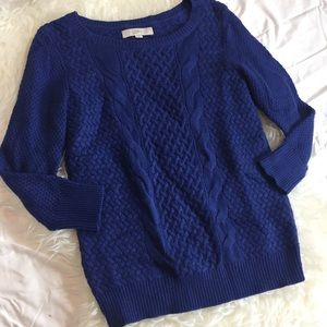 Cable knit sweater by Loft