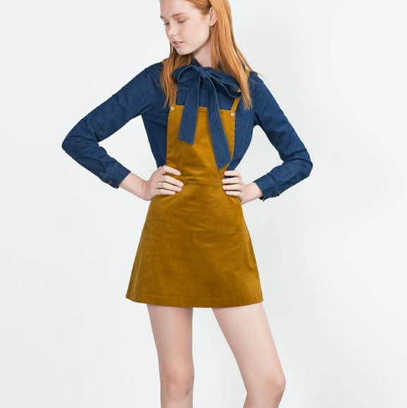 elegant in style complimentary shipping Official Website ZARA CORDUROY PINAFORE DRESS NWT
