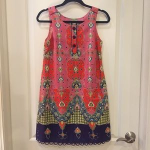 Anthropologie Maeve Pink Print Dress!
