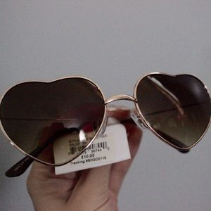 Heart shaped sunglasses, brand new with tags