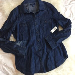 NWT old navy chambray button down