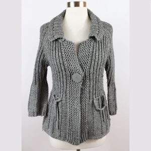 Bcbg MaxAzria Medium Grey Cardigan Sweater