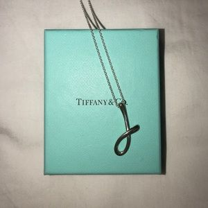 Tiffany & Co. J Initial Necklace by Elsa Peretti
