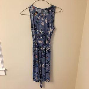 BCBG Faux wrap dress with tie / belt