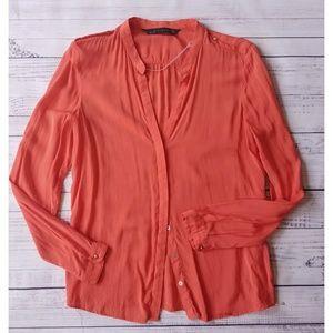 Zara Woman orange blouse
