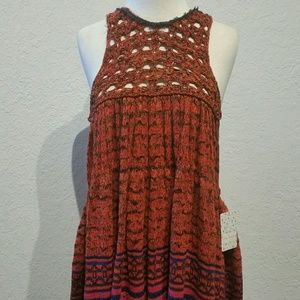 Free People Sweater Dress With Apron Top