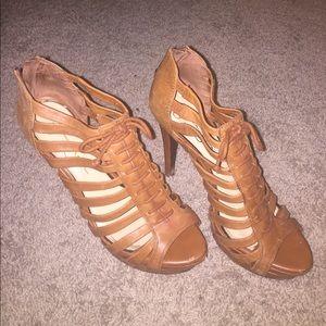 Lace Platform Open Toe Jessica Simpson Heels