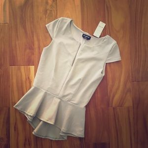 Bebe Peplum top