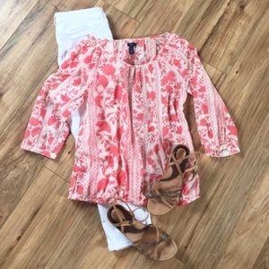 Gap Floral Tunic Shirt