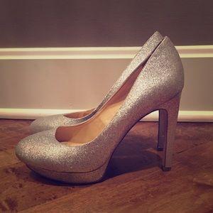 Gianni Bini Silver Glittery/Sparkly Heels