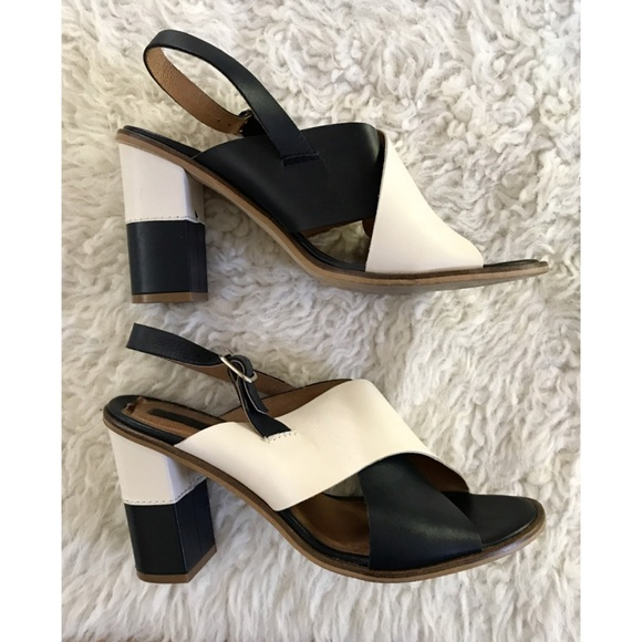 412a33e044c TOPSHOP Colorblock Criss-Cross Stack Heel Sandals