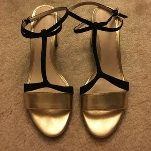 ZARA Leather Sandal Block Heels
