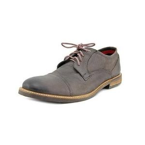 Ben Sherman Grey Leather Oxfords Shoes Size 8