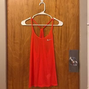 Red Nike workout top